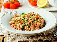 Рецепта Варена елда със замразени зеленчуци и яйца